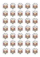 Five for £5.00 Gothic Tattoo Happy Mail - Skull Design